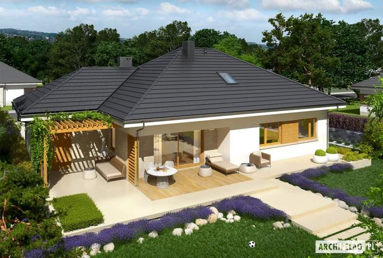 Projekt domu Flo III G1 - widok z góry
