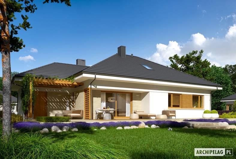 Projekt domu Flo III G1 - wizualizacja ogrodowa