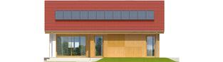 Projekt domu Rafael - elewacja tylna