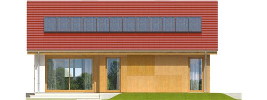 Rafael - Projekt domu Rafael - elewacja tylna