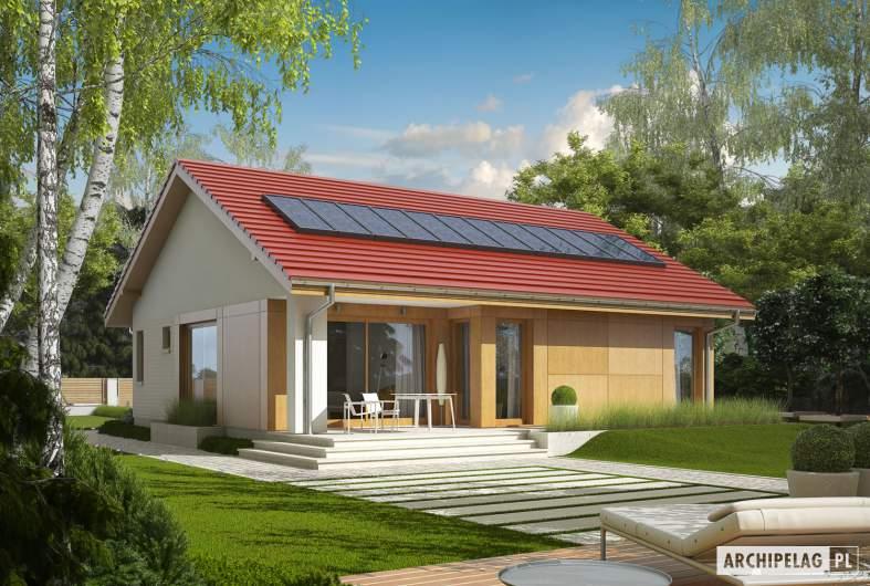 Projekt domu Rafael - wizualizacja ogrodowa