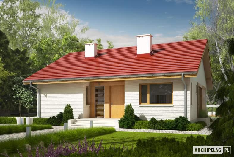 Projekt domu Rafael - wizualizacja frontowa