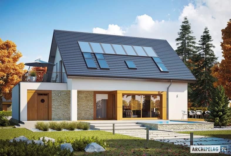 Projekt domu Santiago G1 ENERGO PLUS - wizualizacja ogrodowa