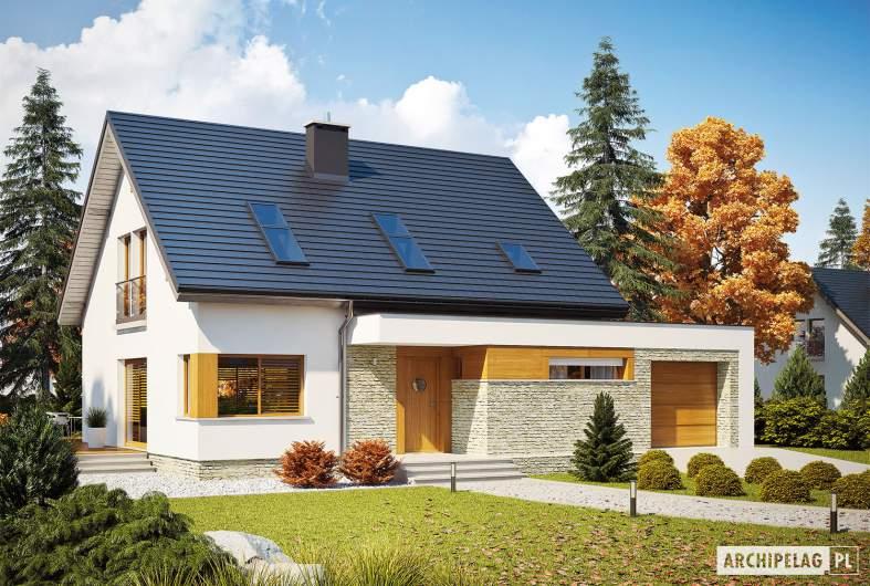 Projekt domu Santiago G1 ENERGO PLUS - wizualizacja frontowa