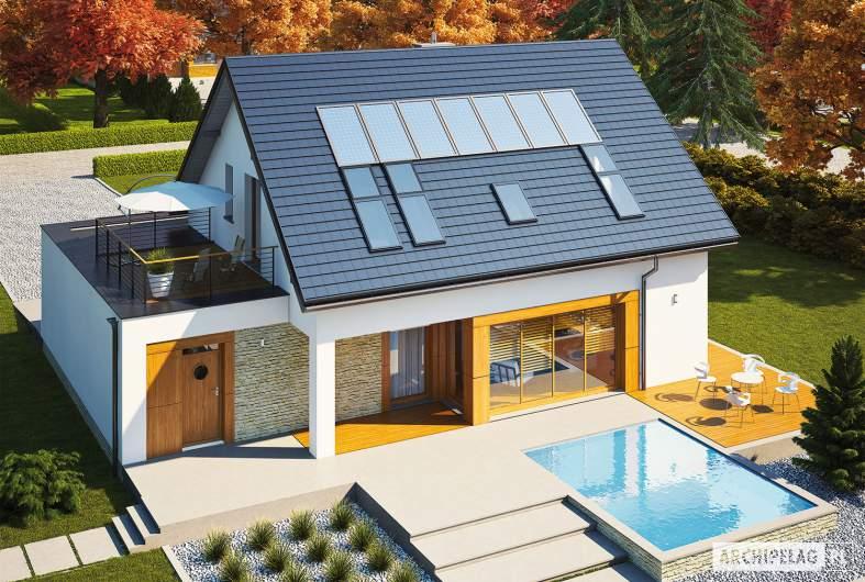 Projekt domu Santiago G1 ENERGO PLUS - widok z góry