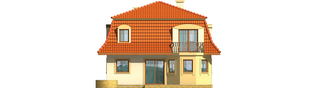 Projekt domu Agata - elewacja tylna