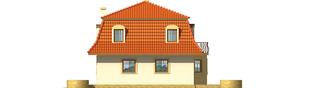 Projekt domu Agata - elewacja prawa