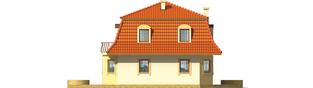 Projekt domu Agata - elewacja lewa
