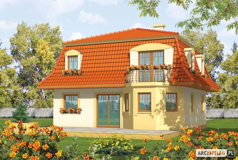 Projekt domu Agata - wizualizacja ogrodowa