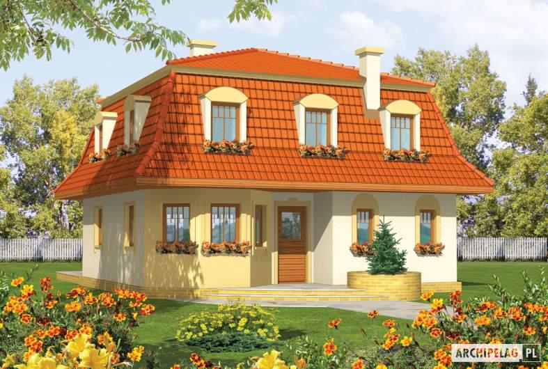 Projekt domu Agata - wizualizacja frontowa