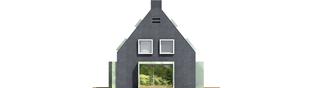 Projekt domu Stone - elewacja tylna