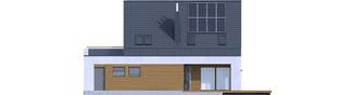 Projekt domu Sam G1 - elewacja tylna