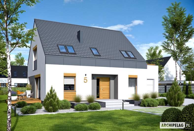 Projekt domu Sam G1 - Projekty domów ARCHIPELAG - Sam G1 - wizualizacja frontowa