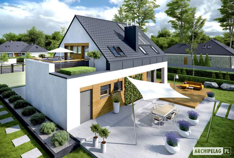 Projekt domu Sam G1 - Projekty domów ARCHIPELAG - Sam G1 - widok z góry