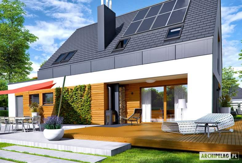 Projekt domu Sam G1 - Projekty domów ARCHIPELAG - Sam G1 - wizualizacja ogrodowa