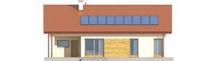 Projekt domu Edwin G1 ENERGO - elewacja tylna