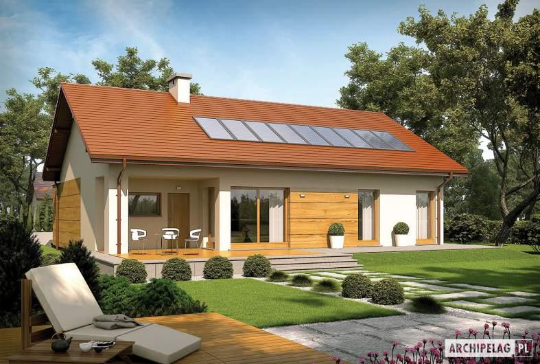 Projekt domu Edwin G1 ENERGO - wizualizacja ogrodowa