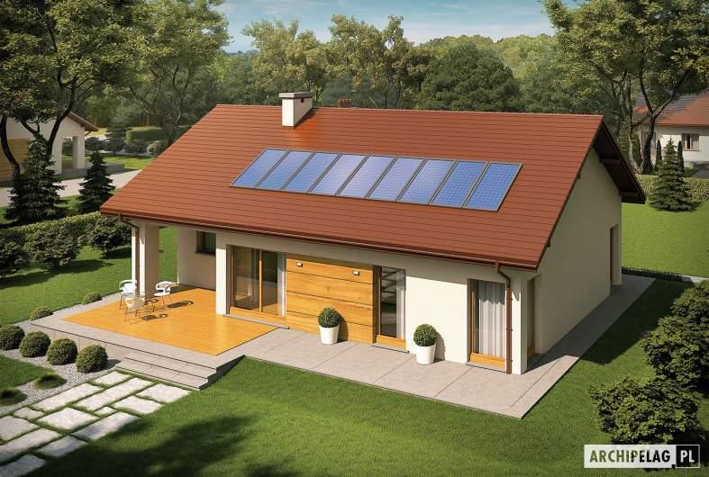 Projekt domu Edwin G1 ENERGO - widok z góry