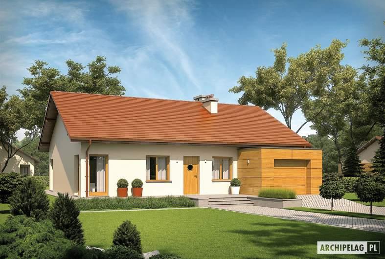 Projekt domu Edwin G1 ENERGO - wizualizacja frontowa