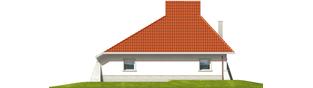 Projekt domu Nawojka - elewacja tylna