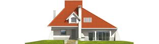 Projekt domu Nawojka - elewacja frontowa