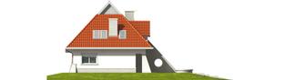Projekt domu Nawojka - elewacja lewa