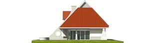 Projekt domu Nawojka - elewacja prawa