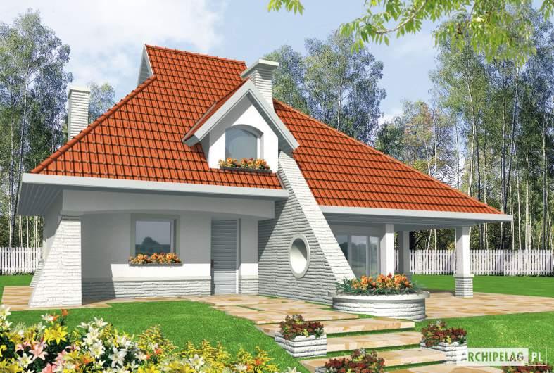 Projekt domu Nawojka - wizualizacja frontowa