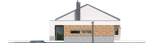 Projekt domu EX 11 G2 (wersja A) soft - elewacja lewa