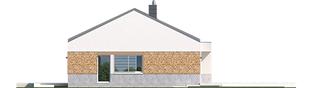 Projekt domu EX 11 G2 (wersja A) soft - elewacja prawa