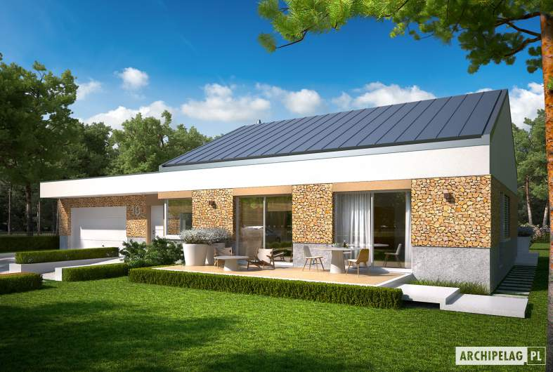 Projekt domu EX 11 G2 (wersja A) soft - wizualizacja frontowa