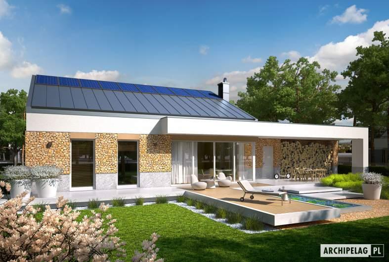 Projekt domu EX 11 G2 (wersja A) soft - wizualizacja ogrodowa