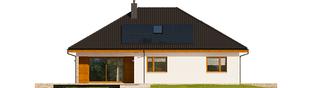 Projekt domu Astrid (mała) II G2 ENERGO PLUS - elewacja tylna