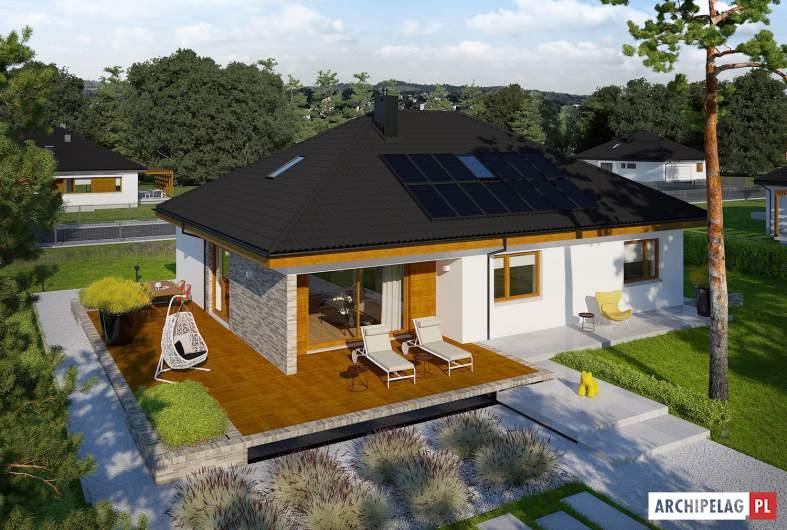 Projekt domu Astrid (mała) II G2 ENERGO PLUS - widok z góry