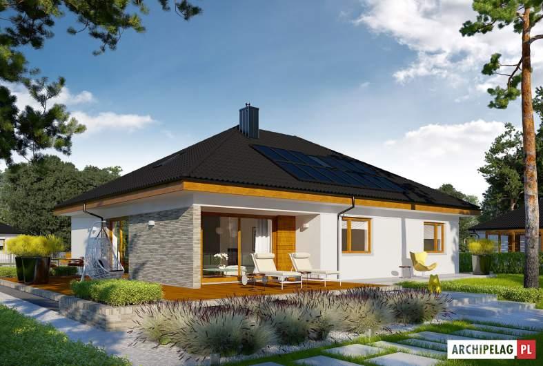 Projekt domu Astrid (mała) II G2 ENERGO PLUS - wizualizacja ogrodowa
