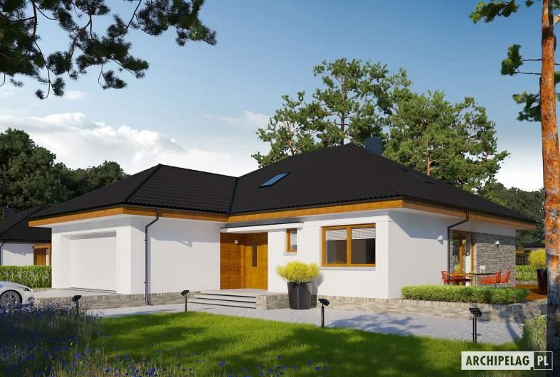 Projekt domu Astrid (mała) II G2 ENERGO PLUS - wizualizacja frontowa