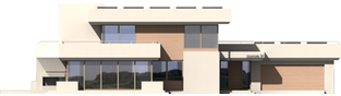 Projekt domu Steps G2 - elewacja frontowa