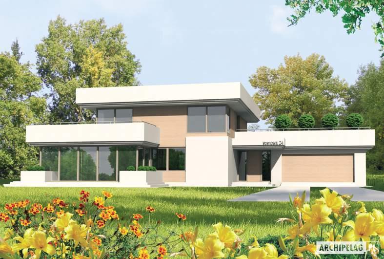 Projekt domu Steps G2 - wizualizacja frontowa