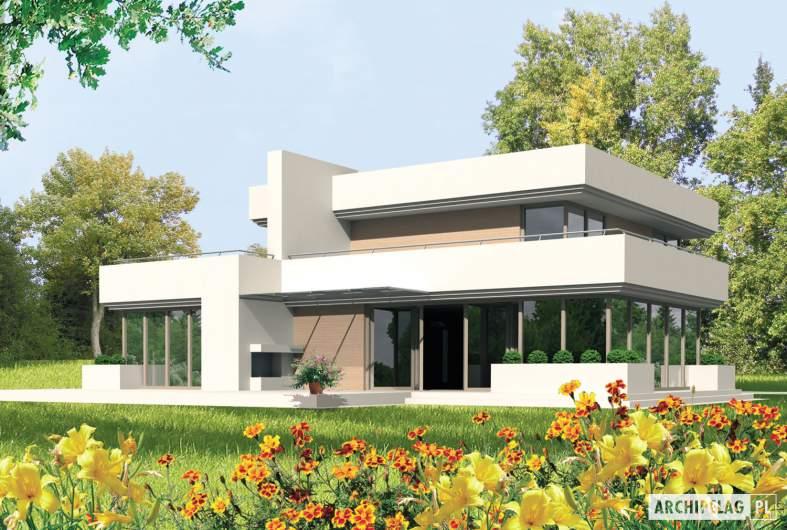 Projekt domu Steps G2 - wizualizacja ogrodowa
