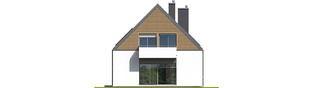 Projekt domu Noel G1 ENERGO - elewacja tylna