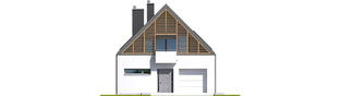 Projekt domu Noel G1 ENERGO - elewacja frontowa