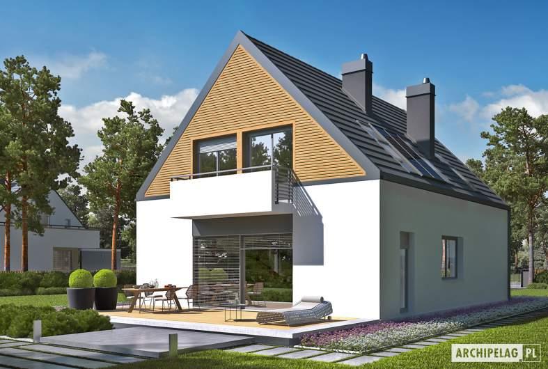 Projekt domu Noel G1 ENERGO - wizualizacja ogrodowa