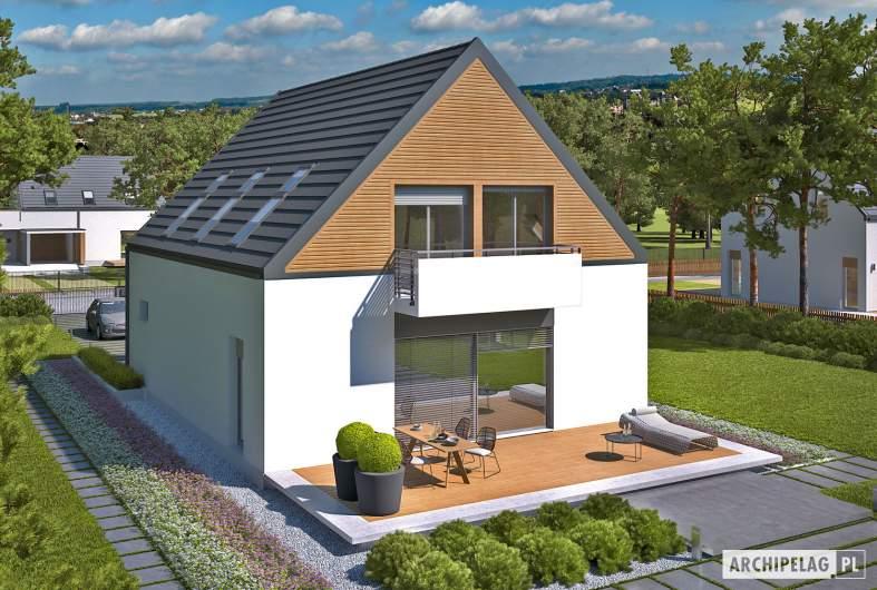 Projekt domu Noel G1 ENERGO - widok z góry