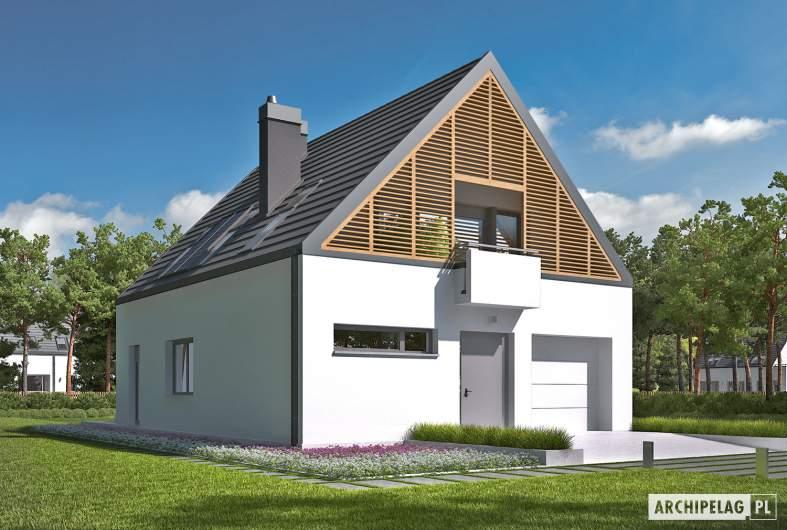 Projekt domu Noel G1 ENERGO - wizualizacja frontowa lewa
