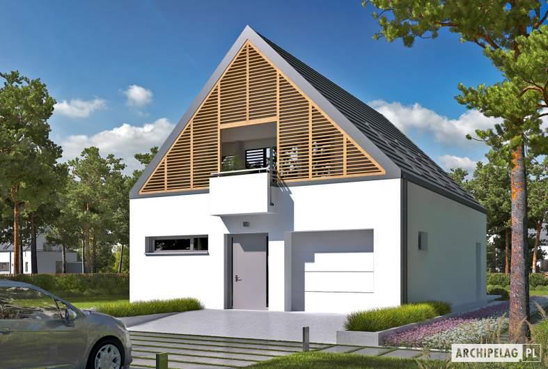 Projekt domu Noel G1 ENERGO - wizualizacja frontowa