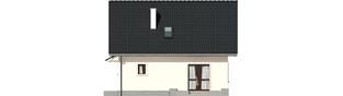 Projekt domu Celinka - elewacja tylna