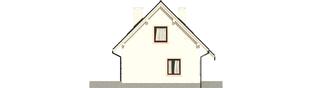 Projekt domu Celinka - elewacja lewa