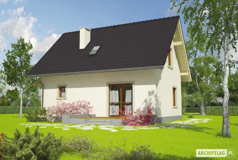 Projekt domu Celinka - wizualizacja ogrodowa