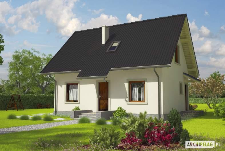 Projekt domu Celinka - wizualizacja frontowa