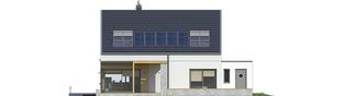 Projekt domu Edgar II G2 ENERGO - elewacja tylna